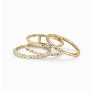 Imperial Stacking Rings Gold Size 7